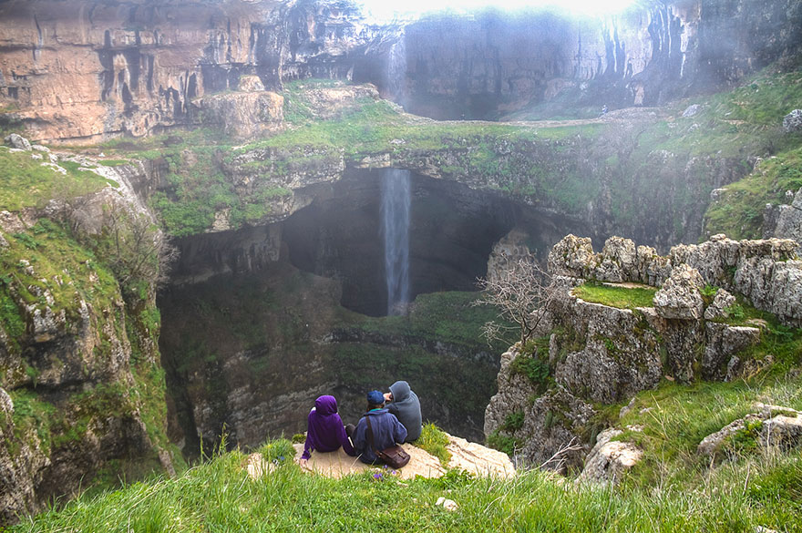 14095575209665 three bridges cave baatara gorge waterfall lebanon 12 This wonder of nature deserves respect..and ofcourse some adulation!!