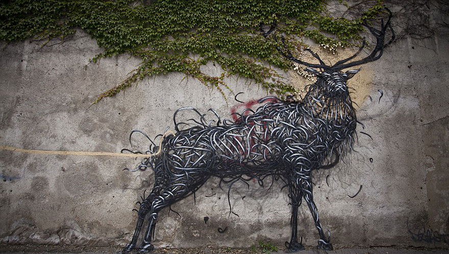14095578757868 street art DALeast 1 Never seen before street art by Traveling Chinese Artist DALeast