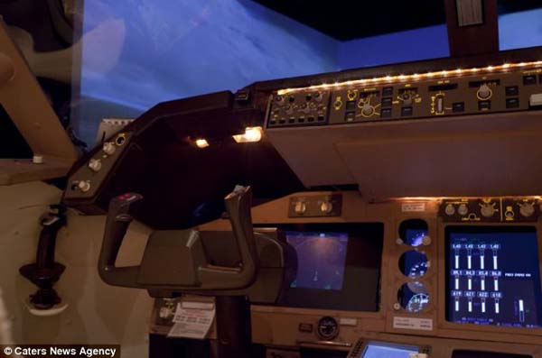 1409557912618 cockpit6 Forced to give up his dream of being a pilot, this man builds a life sized Boeing simulator in his house!