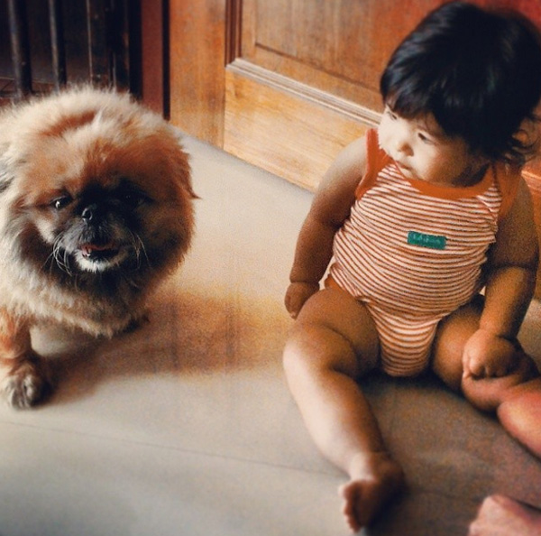 14095579613324 babies meeting dogs 09 Here Are 15 Pictures That Prove Its The Simplest Moments That Mean The Most. Heart = Exploded.