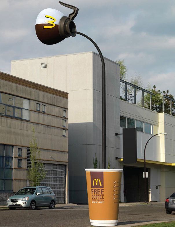14095592612820 large scale objects mc coffee This Is How Ads Should be Made. Incredibly Creative!