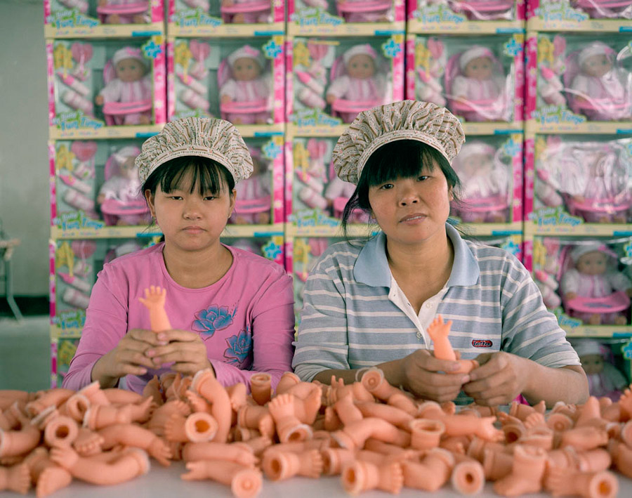 14095617284822 chinese factory workers toys 02 A pack of headless bodies? These images do a great job of stirring the ignorant souls