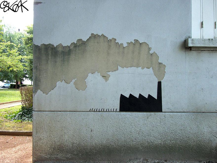 14100589057174 creative street art oakoak 2 8 Fabulous Street Art that will make you AWESTRUCK!
