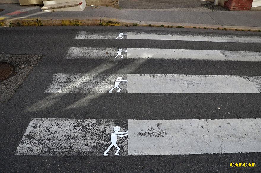 14100589059787 creative street art oakoak 2 26 Fabulous Street Art that will make you AWESTRUCK!