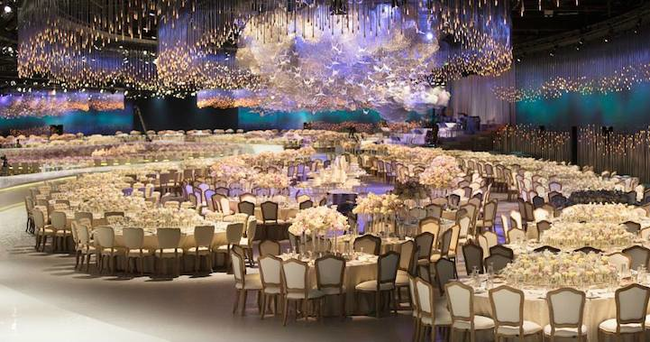 14155267433908 desktop 1412266888 Over The Top Wedding Reception Recreates the Heavens