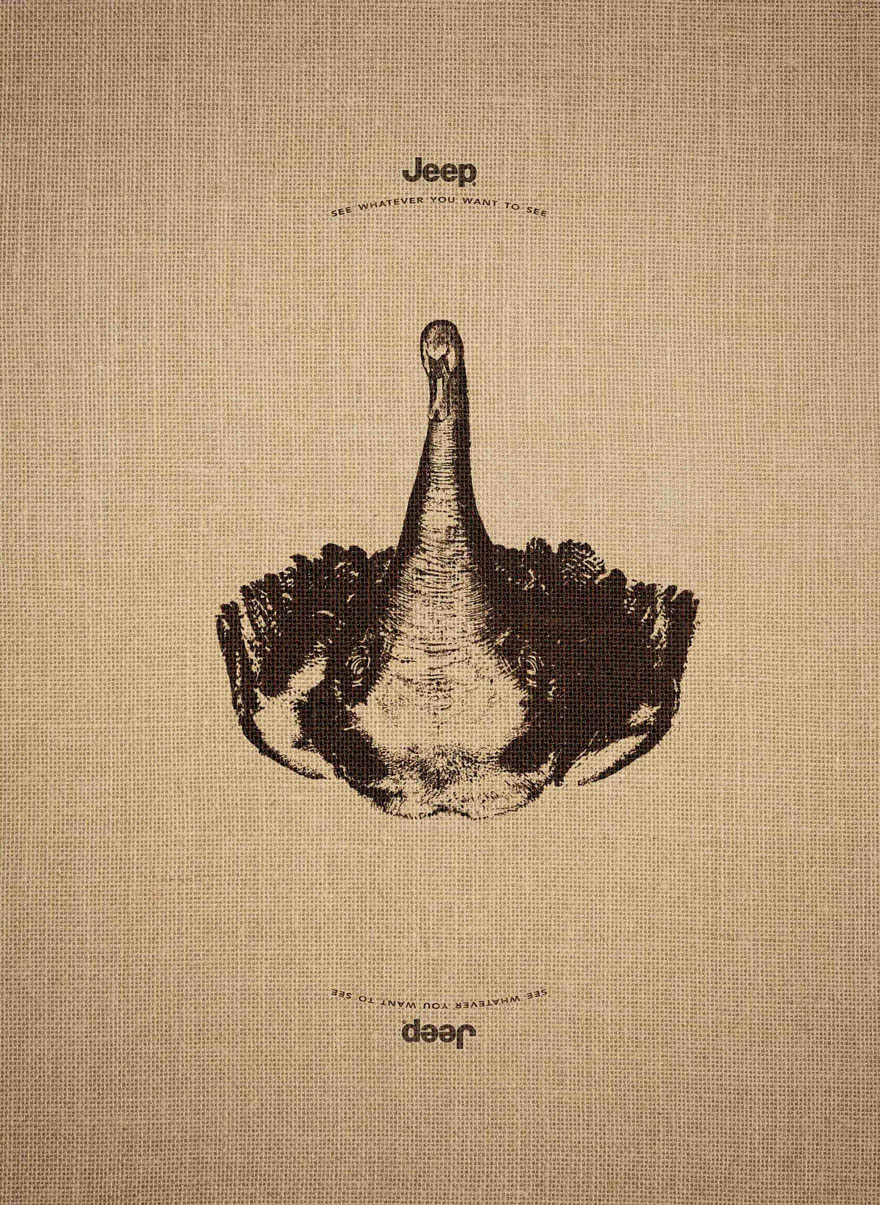 14155467761079 animal optical illusion jeep advertisement leo burnett 3 Jeep's Clever Ad Campaign Works Just As Well Upside Down